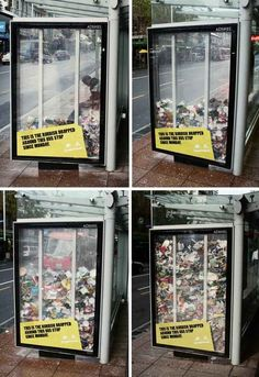 Anti-littering social campaign....pretty cool idea