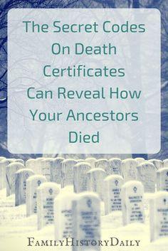 The Secret Codes on Death Certificates