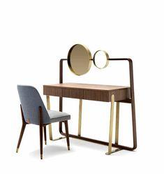 Marion desk - Ulivi Salotti Furniture Dressing Table, Table Furniture, Cool Furniture, Furniture Design, Modern Interior, Interior Design, Home Office Storage, Furniture Care, Chair Design