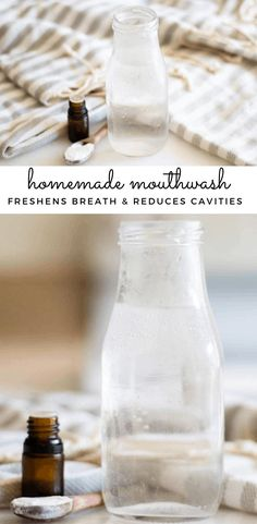 Looking for a natural alternative mouthwash? This homemade mouthwash with all-natural ingredients including spearmint essential oil has many benefits for your mouth and teeth. Of course, after using, your mouth will feel fresh and cool.