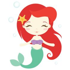 Ariel the little mermaid Mermaid Cartoon, Ariel Mermaid, Cute Mermaid, Ariel The Little Mermaid, Mermaid Art, Little Mermaid Clipart, Stickers Kawaii, Little Mermaid Parties, Clip Art