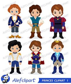 Princes Digital Clipart / Fairytale Princes Cute by Alefclipart