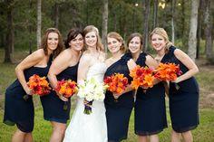 Orange & Navy Blue Wedding at Amber Springs  Photo by: jwbaugh.com