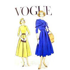 Vintage Vogue 9259 Dress Pattern 1950s by RebeccasVintageSalon, $18.00