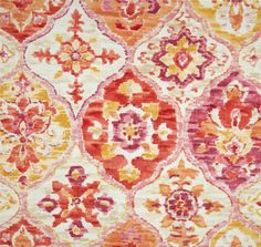 Fabric by the Yard Outdoor P Kaufmann Alibaba Tangerine on Etsy, $15.00