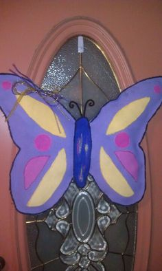 Butterfly burlap door hanging