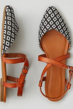 Step out in scene-stealing flats, with a lace-up silhouette as the perfect finish. Pattern may vary. Shop the AEO Cross-Strap Ballet Flat from American Eagle Outfitters. Check out the entire American Eagle Outfitters website to find the best items to pair with the AEO Cross-Strap Ballet Flat .