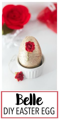 This Disney Princess Inspired DIY Easter Egg is a fun Disney princess craft centered around Belle from Beauty and the Beast! Makes a great Easter basket gift or Easter craft idea any little one with love! Princess Crafts Kids, Disney Crafts For Kids, Disney Diy, Diy For Kids, Easter Gift Baskets, Basket Gift, Little Mermaid Cupcakes, Plastic Easter Eggs, Easter Crafts