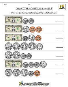 Counting Coins Worksheets 2nd Grade | 2nd grade money worksheets ...
