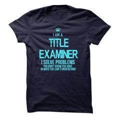 I am a Title Examiner - #tshirt typography #sudaderas sweatshirt. OBTAIN LOWEST PRICE => https://www.sunfrog.com/LifeStyle/I-am-a-Title-Examiner-18603365-Guys.html?68278
