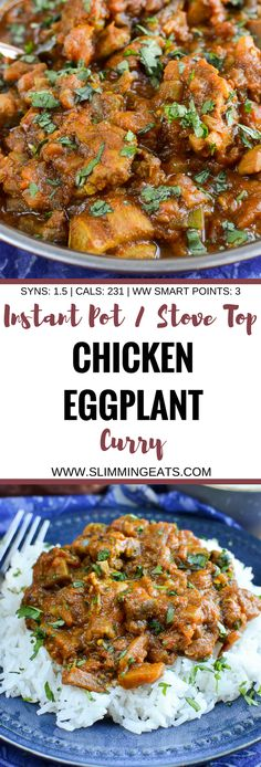 Slimming Eats Chicken and Eggplant Curry - gluten free, dairy free, paleo, Slimming World and Weight Watchers friendly