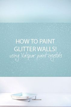 The REAL way to get a glitter wall: Paint additive to create glitter in whatever color of wall/ceiling paint you want. Dries flat so you can paint over it with no bumps. #GlitterWalls #GlitterBedroom