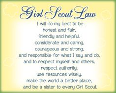 Girl Scout Law color coded to the daisy petals | My Kind of ...