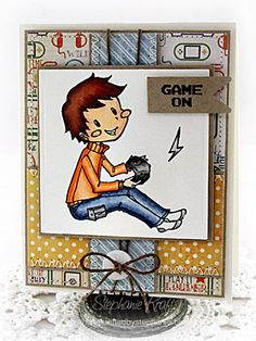 HandKrafted by Stephanie: Sparkle Creations September Preview: Video Game Oliver