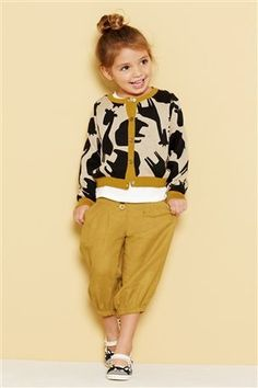 Giraffe Print Cardigan and Linen Blend Cropped Trousers from Next UK
