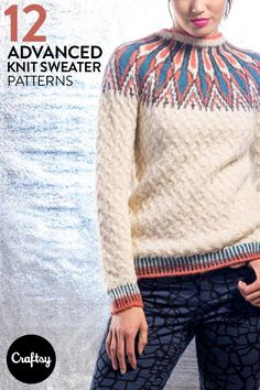 b798baecdf6fa8 We love this wintery sweater pattern! Get it and 12 other advanced knits at  Craftsy