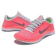 newest b4ec6 e7996 Nike Free 3 0 V 4 Womens Running Shoes Pink Coral Color Size 8 5