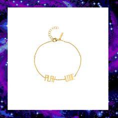 PLAY LOVE CHARM BRACELET £90.00 Love Charms, Techno, Jewelry Collection, Gold Necklace, Skull, Bracelets, Play, Charm Bracelets, Arm Bracelets