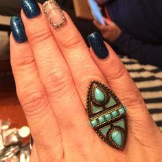 Samantha Wills statement ring NWT turquoise Oval shaped turquoise ring NWT Samantha Wills Jewelry Rings