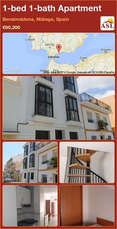 1-bed 1-bath Apartment in Benalmádena, Málaga, Spain ►€60,300 #PropertyForSaleInSpain