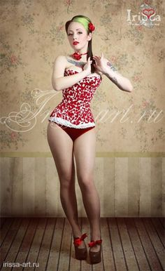 Valentine pinup, by Jane Sinner