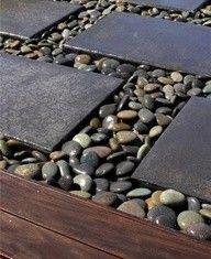 Piso Externo com pedras