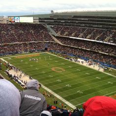 Soldier Field -- Home of the Chicago Bears. Places Ive Been, Places To Go, Nfl Stadiums, Soldier Field, Best Rated, Chicago Bears, Cheerleading, Blood, Bucket