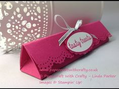 Box with Pretty Punched Lid - Using the new Curvy Corner Trio Punch from Stampin' Up! - YouTube