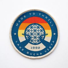 Commemorate the 1982 opening of EPCOT Center, the theme park that embodies the spirit of international culture & human achievement. - Limited edition of 250 - 3 in. x 3 in. - Sew-on - 100% embroidered