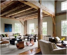 Cozy And Inviting Barn Living Rooms | DigsDigs