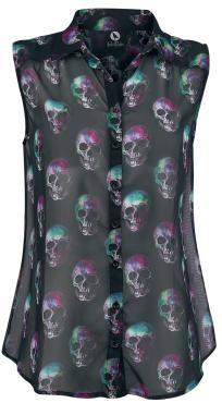 Share the joy Fearless Illustration Multi Skull Blouse ~ EMP Source by roseskulls Skull Fashion, Dark Fashion, Gothic Fashion, Lolita Fashion, Emo Fashion, Mode Alternative, Alternative Fashion, Lady Like, Looks Cool