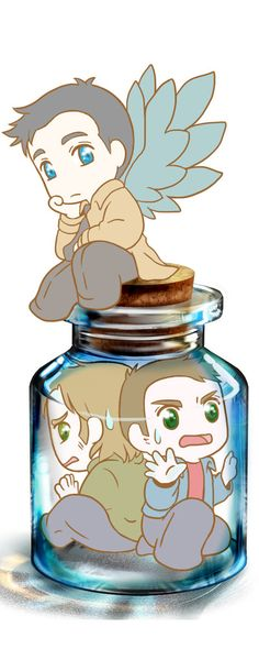 Bottle o'Winchesters by ~MugenMusouka on deviantART. OHMYGOSH GUYS THERE'S MORE. AND THIS IS MY FOUR THOUSANDTH, FIVE HUNDREDTH PIN.