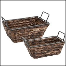 Nice BacBac With Metal Trim, 2 Piece Shelf Basket Set