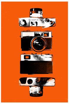 orange camera poster