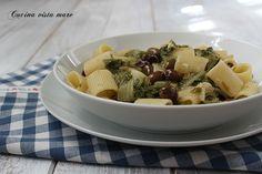 Mezze maniche con scarola e olive