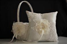 Ring Bearer Pillow & Flower Girl Wedding Basket by AlexEmotions