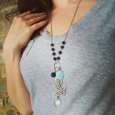 Diffuser Jewelry can be fun, fashionable, and functional!   Just a drop of your favorite essential oil or blend on the lava rock beads will give you hours of aromatherapy! ❤ ✔ Check out this necklace, and all my other diffuser jewelry, at: www.etsy.com/shop/EssentiallyElegant