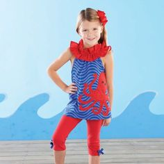 Boathouse Baby Octopus Tunic & Legging Set by Mud Pie