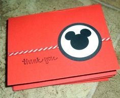 A Set of 6 Mickey Mouse Thank you Handmade by ArleenDesign on Etsy, $5.00
