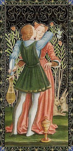 Page of Cups - Golden Tarot of Renaissance par Giordano Berti & Jo Dworkin