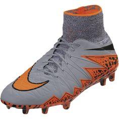 Nike Hypervenom Phantom FG (Wolf Grey Total Orange) Soccer Boots 58d46184d4a