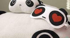 Tutorial: Máscara de dormir em forma de panda apaixonado | Artemix