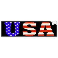 USA Bumper Stickers! :) http://www.zazzle.com/usa_customize_me_bumper_stickers-128638697549879879?rf=238020180027550641