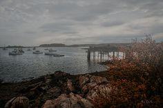 Cape Porpoise Maine - As The Fog Rolls In - Original fine art foggy landscape / seascape photography by Bob Orsillo.  Copyright (c)Bob Orsillo / http://orsillo.com - All Rights Reserved.