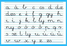 Language: The Hungarian handwritten small letter alphabet. It's actually pretty cool, because each sound has a letter. (There are no combinations or dipthongs.) So if you see a word written down, you ALWAYS know with certainty, how to pronounce it Fortune Telling Cards, How To Pronounce, World Languages, Hungarian Recipes, Small Letters, Letter Sounds, My Heritage, Kids Learning, Fun Facts