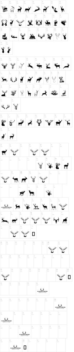 FREE Deer Dingbat Font | dafont.com use these for sillouettes for the cricut