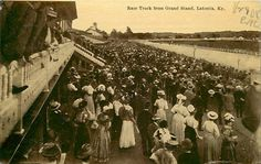 Latonia Race Track in #Latonia, #KY was a Thoroughbred racing facility opened in 1883. Once regarded as among the United States' top sites for racing, it drew more than 100,000 visitors annually. The track's main attraction was the annual 1½ mile Latonia Derby. It was so popular that in 1912 a major motion picture entitled Winning the Latonia Derby was filmed. The Great Depression forced the track to close its doors in 1939. The facility was dismantled during WWII. Post card circa…