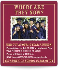 Reunion Invitation Magnets - Where Are They Now?