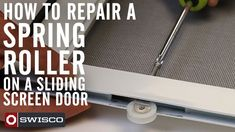 This tutorial from Mike at SWISCO.COM will walk you through the procedure of removing the 84-001 spring roller from a sliding screen door. The 84-001 roller is used by many door manufacturers.