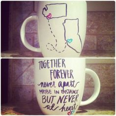 Matching coffee mugs with my BFF. Do It Yourself Baby, Do It Yourself Wedding, Do It Yourself Fashion, Cute Crafts, Crafts To Do, Arts And Crafts, Craft Gifts, Diy Gifts, Do It Yourself Inspiration